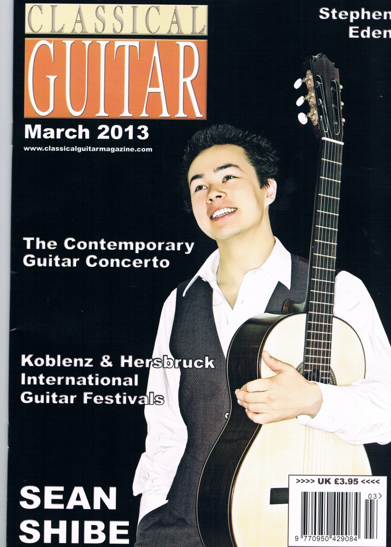 Classical Guitar Magazine March issue cover page